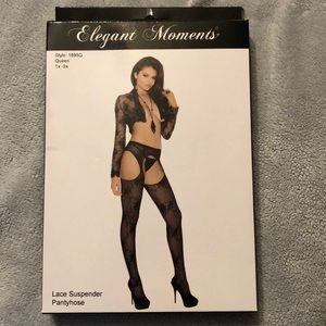 Cut out suspenders stockings